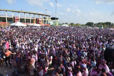 Scenes of Phagwah celebrations at the Providence National Stadium.