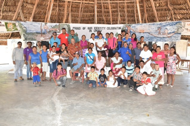 GWI officials with residents of Shulinab following a meeting.