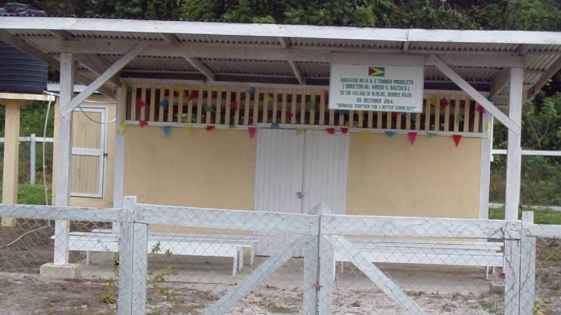 The recently built mortuary at Hururu Village