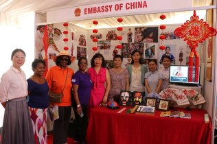Members from the Embassy of China posed for a picture.