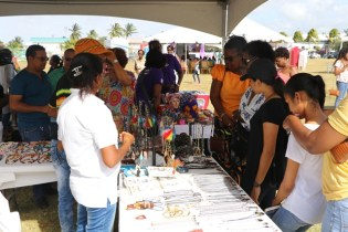 Spectators taking a look of products.