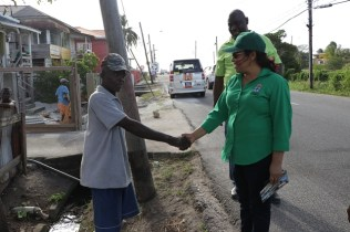 Scenes from Minister of Public Affairs, Dawn Hastings-Williams walkabout the Kitty/Subryanville area.