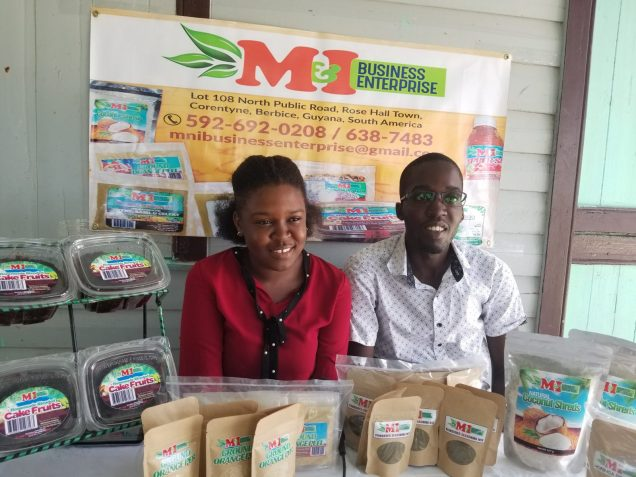 Isha Beth-Sinclair and her husband Michael Sinclair, owners of M&I Business Enterprise