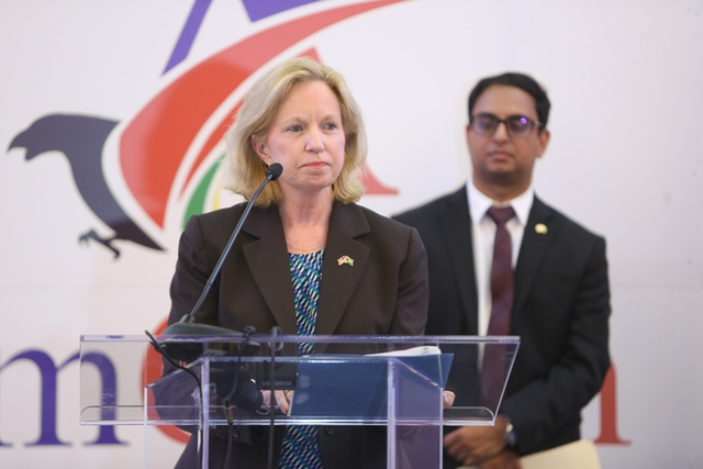 US Ambassador to Guyana, Sarah-Ann Lynch.