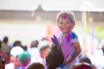 Scenes from the Holi/Phagwah celebrations at the Swami Vivekananda Cultural Centre in Bel Air.