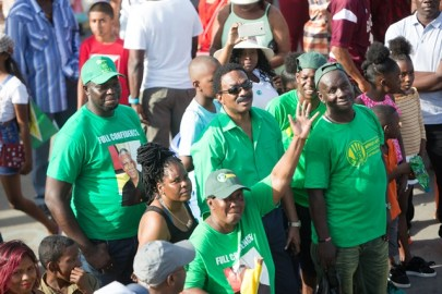 Attorney General and Minister of Legal Affairs, Basil Williams SC., enjoying the floats.