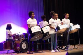 Steel Pan performance from the Women of Caribbean Airlines Parkside.