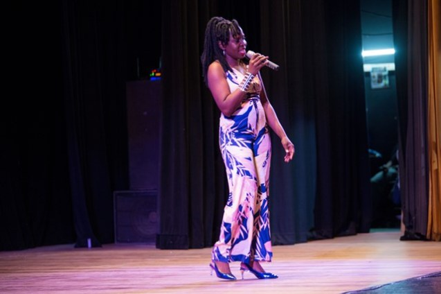 "Calypso performance by Oneika Joseph, performing her special,"" Woman is Boss"" at the National Cultural Center."