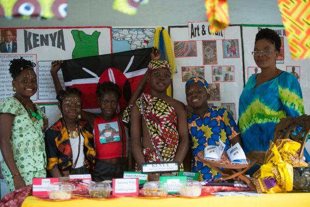 A booth representing Kenya