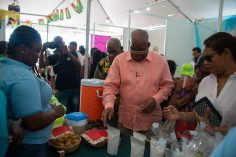 Minister of Finance, Winston Jordan engaging in some of what UncappeD had to offer