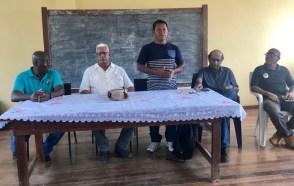 Meeting at Kumaka on 28 Feb. with Councillor Aloysius Daniels.