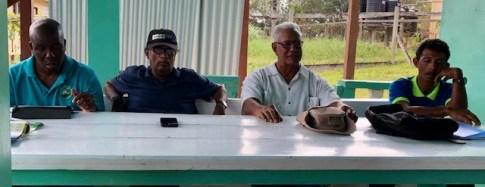 Meeting at Manawarin Village on 28 Feb with Toshao Schambach John.