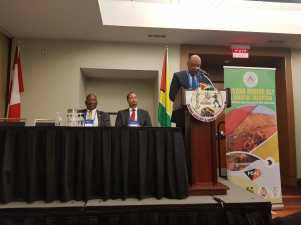 Minister Raphael Trotman gives remarks at the Guyana Day event