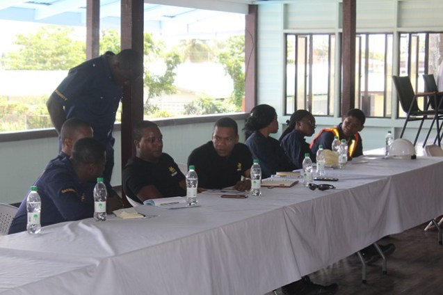 Participants at the training session.