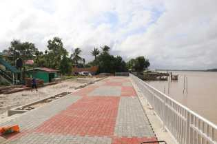 The newly constructed boardwalk at the Supenaam Stelling