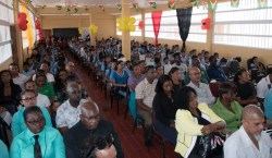 Education officials, parents and students of Kato Secondary at the school's commissioning ceremony