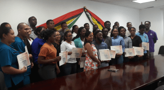 Participants proudly display their certificates of achievement for Laboratory Biosafety Practices and Infectious Substance Shipping 1st March 2019