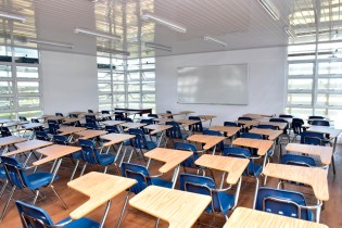 One of the classrooms in the centre.