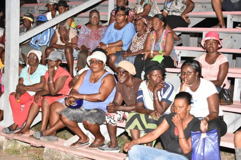 Residents listened intently as Minister of State, Joseph Harmon delivered his address