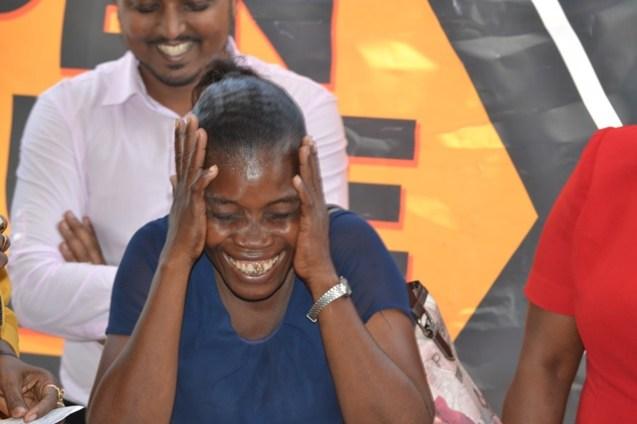 An ecstatic Ayasia May LaFleur.
