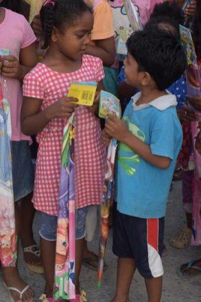 Two of the little ones at Vreed-en-Hoop, West Coast of Demerara (WCD).