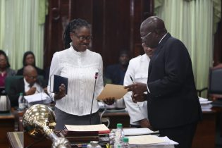 Tabitha Saraboo- Halley is sworn in as a Member of Parliament