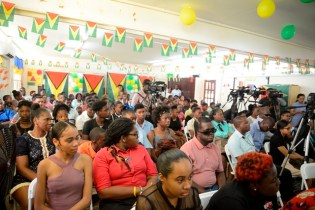 A section of the gathering at the David Rose Special School, Thomas Lands, Georgetown.