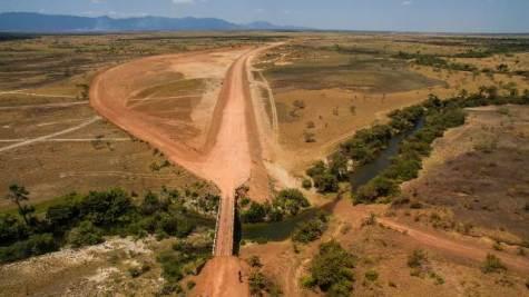Aerial shot of the new Manarai bypass.