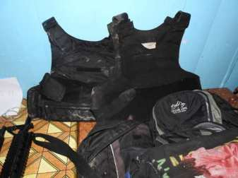 Items recovered by police following an exchange of gunfire with criminals on Sunday at Johanna Black Bush Polder.