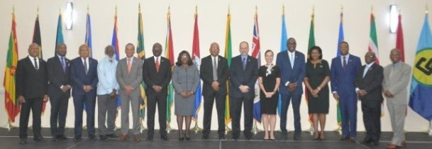 Foreign Ministers and Heads of Delegations who attended the Twenty-Second Meeting of the Council for Foreign and Community Relations (COFCOR) of the Caribbean Community (CARICOM) convened in St. George's, Grenada on May 13-14, 2019.