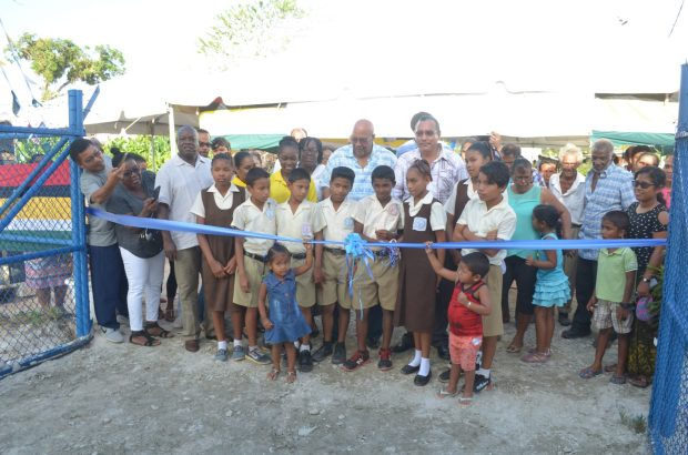 Ribbon cutting to recommission the Hubu water station