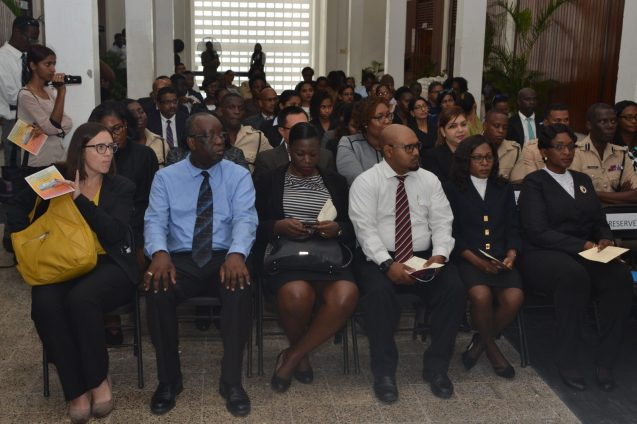 A section of the gathering during the launching of the Sexual Offences Court in Berbice
