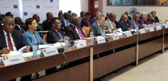 Officials at the 109th session of the African, Caribbean, and Pacific Group of States (ACP) Council of Ministers.