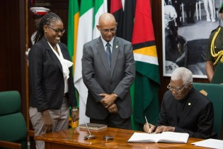 Newly sworn-in Minister of Public Service, Tabitha Sarabo-Halley.