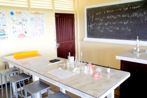 A section of the science laboratory at the Buxton Secondary School (Ministry of Education photo)