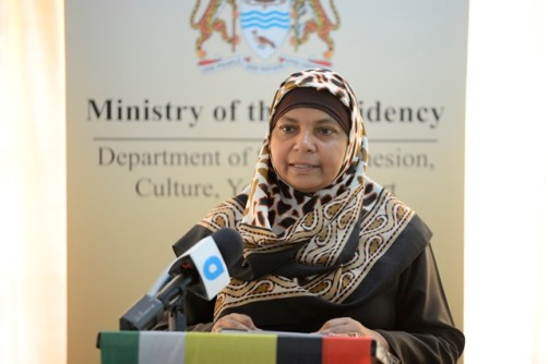 Department of Social Cohesion, Culture, Youth and Sport, Acting Programme Coordinator, Natasha Singh-Lewis.
