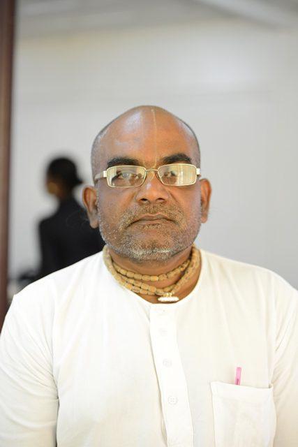 President of the Sri Sri Jagannatha, Prasad Mandir Iskcon Mahendra Balram.