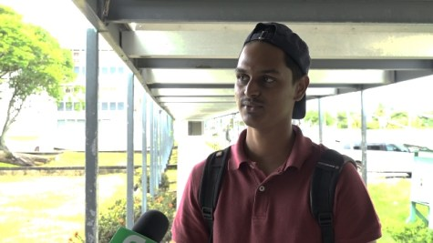 University of Guyana student, Randy Rambarran.