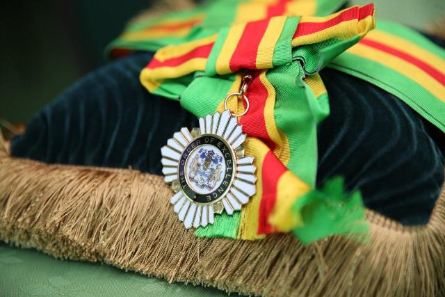 The Order of Excellence, Guyana's Highest National Award.