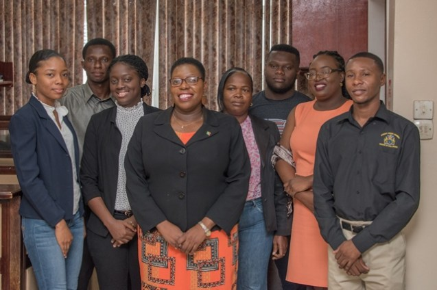 Ayana McCalman and her Team at the Ministry of Legal Affairs.