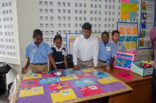 Scenes from the Mathematics walk and exhibition.