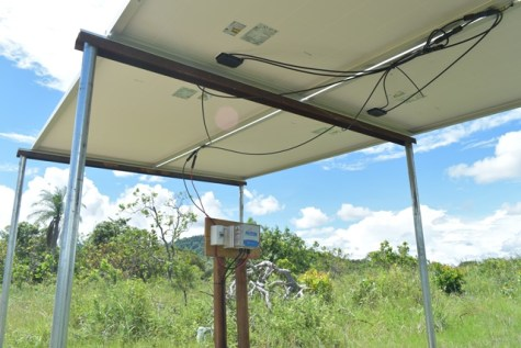 The new Photovoltaic System which was recently installed at the site of the new Well in Aranaputa, Region 9