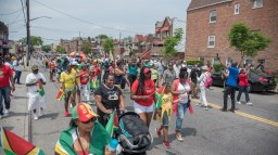 Guyanese in New York celebrating Guyana's 53rd. Independence Anniversary.