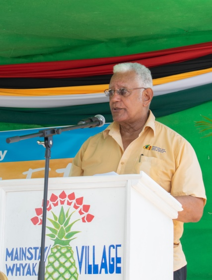 Minister of Agriculture, Noel Holder at the World Food Day Exhibition and Fair last year.