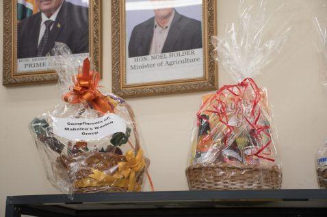 Some of the pre-made baskets available at the Guyana shop