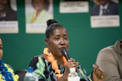 Minister within the Ministry of Agriculture, with responsibility for Rural Affairs, Valerie Adams-Yearwood.