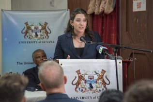 Deedra Moe, ExxonMobil Guyana's Senior Director, Public and Government Affairs.