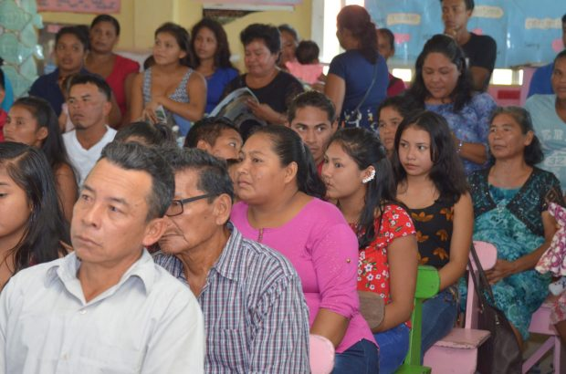 A section of the residents at the community meeting in Akawini