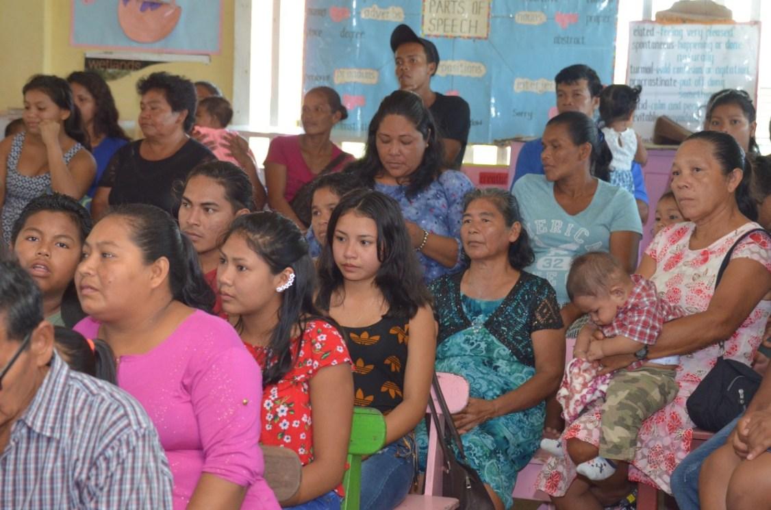 Section of residents at Akawini community engagement.
