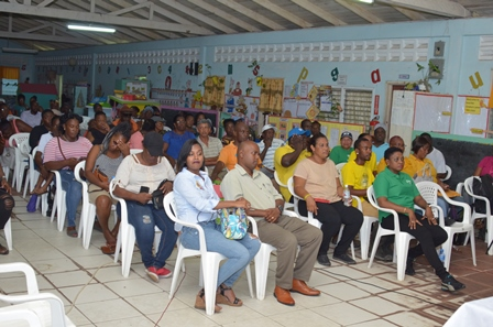 A section of the residents at Somatta Point community engagement in Grove on the East Bank of Demerara.